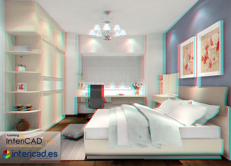 Habitación Renderiza para gafas 3D