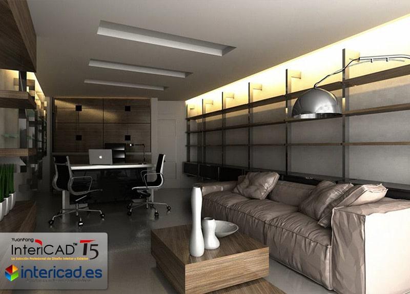 Diseño de Interior creado con el programa de diseño InteriCAD T5