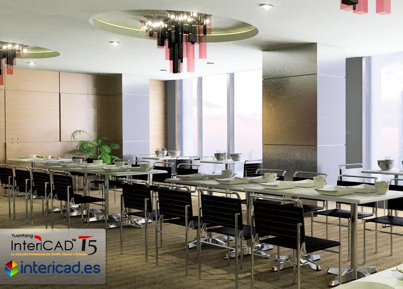 Restaurante creado con el software InteriCAD T5