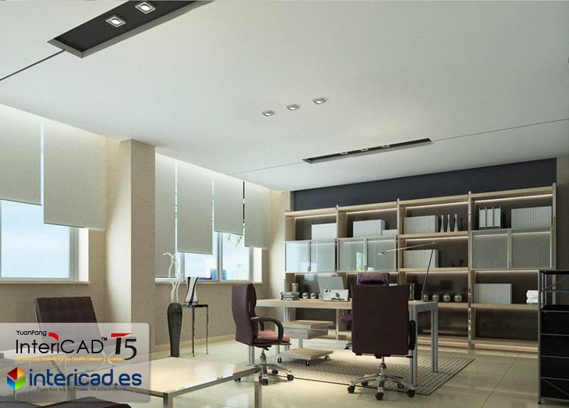 Despacho creado con el Software de Interiorismo InteriCAD T5