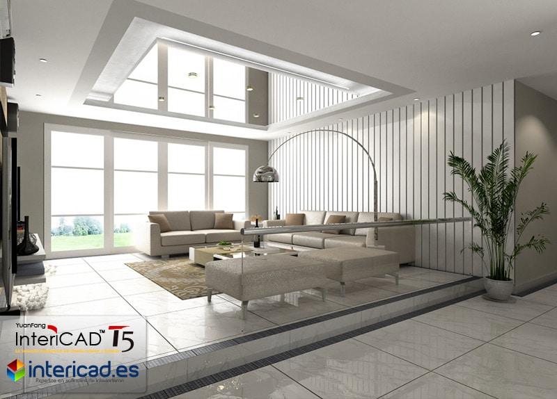 Render con Iluminación diurna creado con el software de interiorismo InteriCAD T5