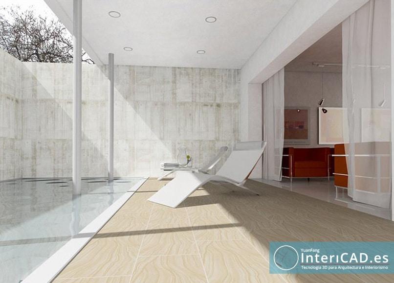 Exterior creado con programa de diseño 3D