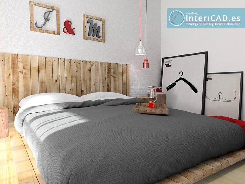 Domitorio creado con Software de Interiorismo InteriCAD T6