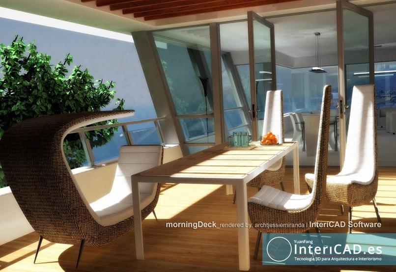 Exterior creado con InteriCAD T6