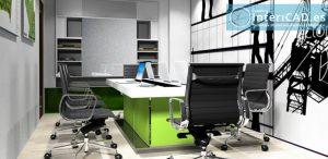 Oficina creada con programa de interiorismo