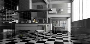 Panoramica 360º de Una Cocina de una bodega