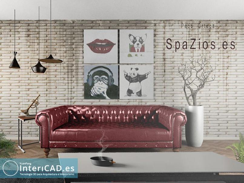 Creado con Programa de Decoración de Interiores InteriCAD T6