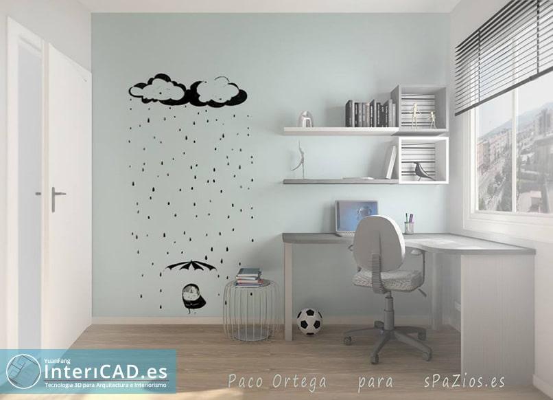 Proyecto de un Dormitorio Juvenil