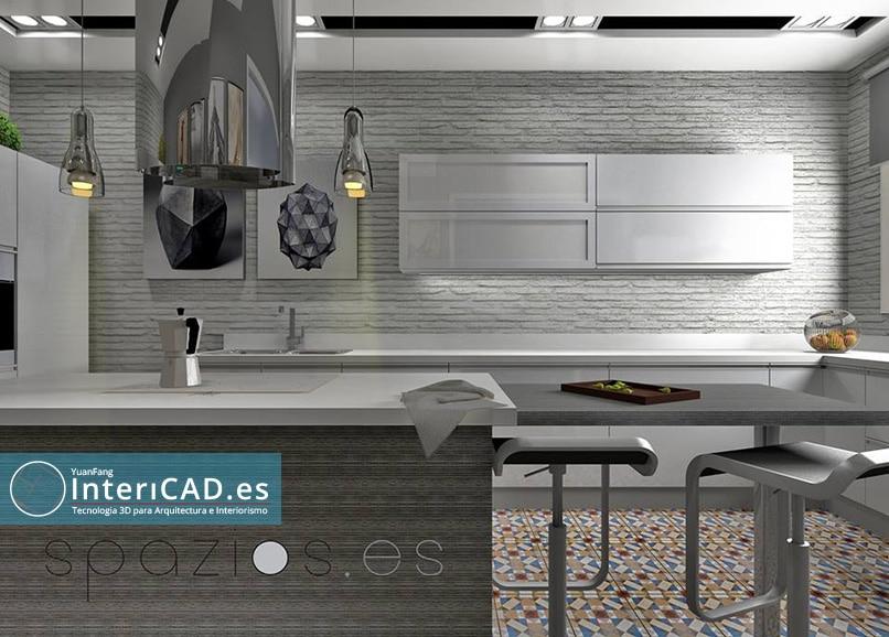 Proyecto real de una Cocina creado por Paco Ortega de Spazios.es