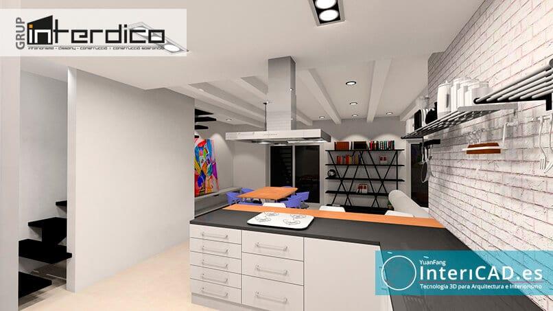 Render creado con Software de Interiorismo InteriCAD T6