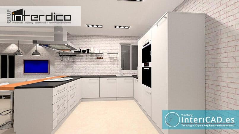 Render creado con programa de interiorismo InteriCAD T6