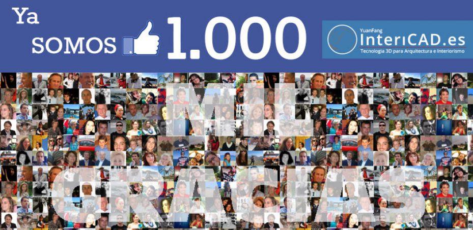 Ya somos más de 1000 Fans en Facebook