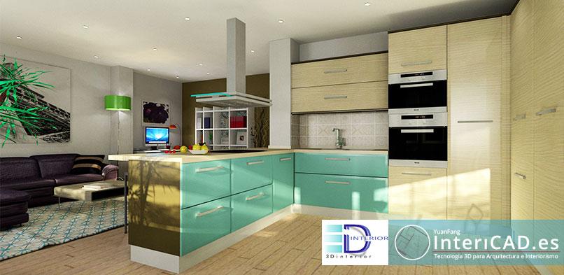 Cocina creada por Javier de 3D Interior