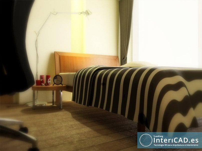 Dormitorio de un apartamento