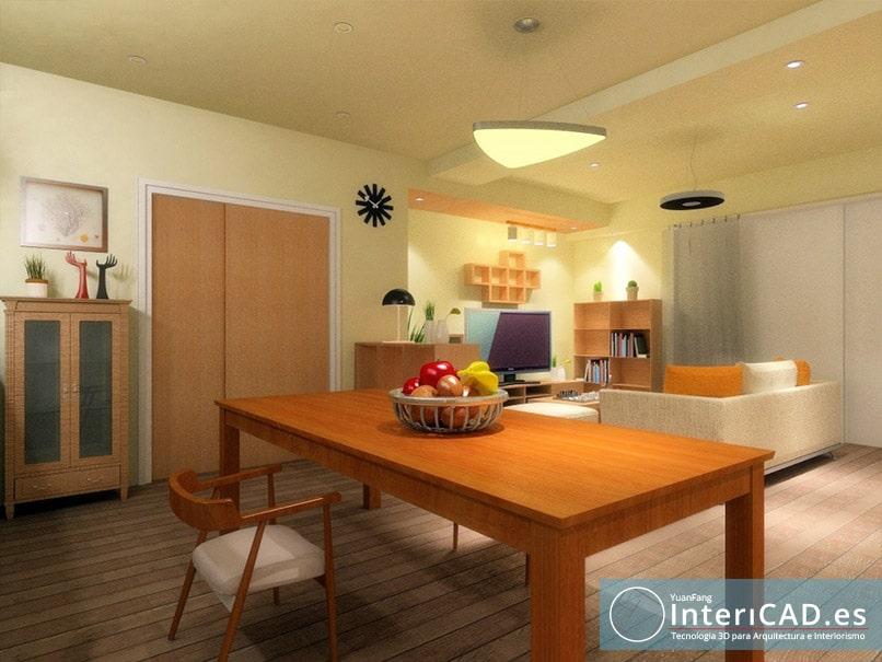 Dise o de un apartamento y su dormitorio for Programas 3d interiorismo