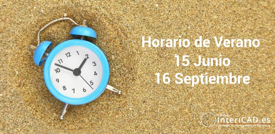 Horario de Verano 2020 en InteriCAD
