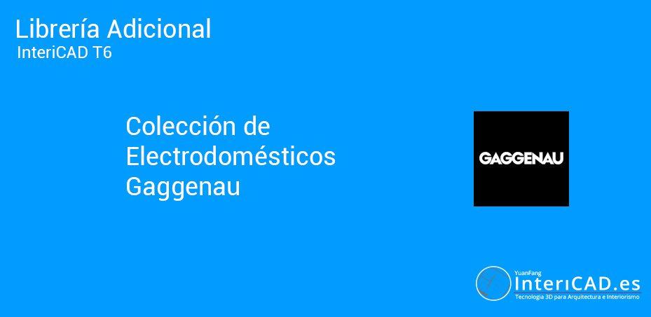 Librerías InteriCAD T6 – Librería adicional Gaggenau