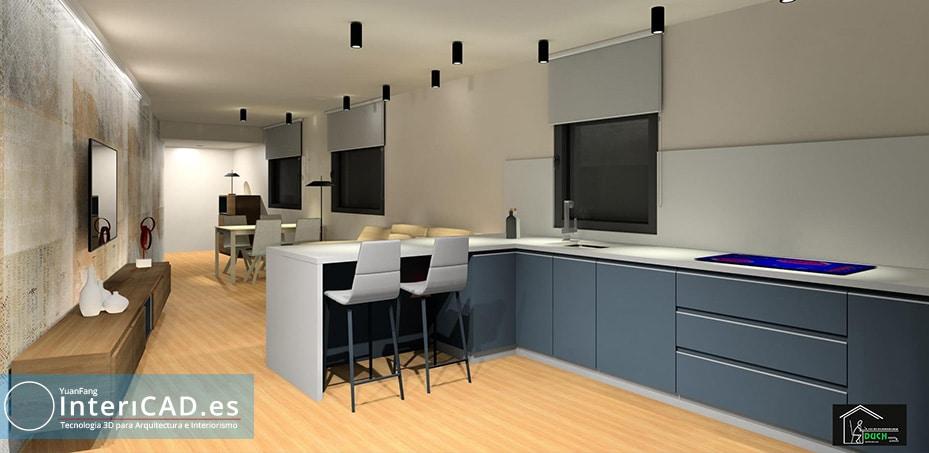 Decoración cocina con interiCAD T6