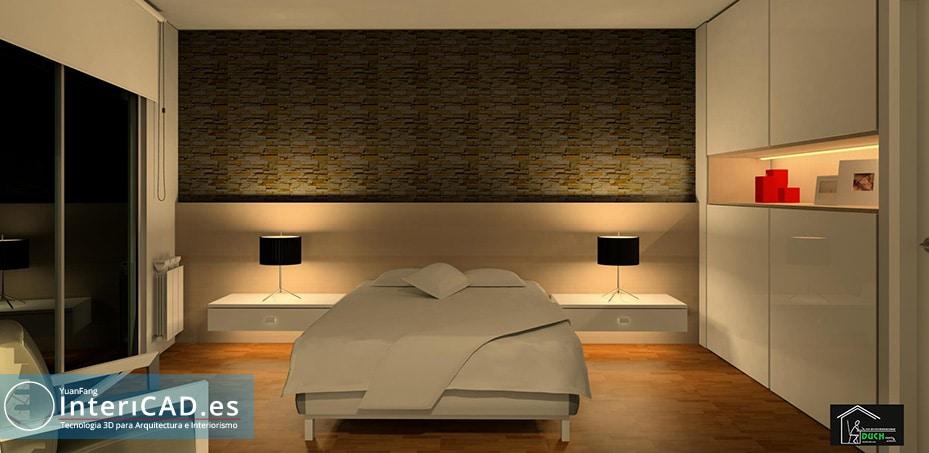 Dormitorio creado con InteriCAD T6