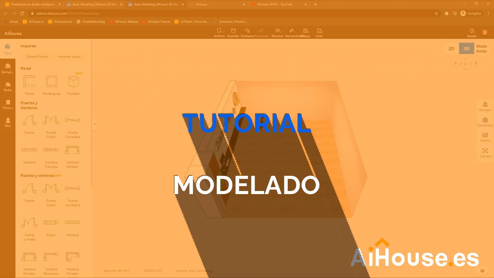 Tutorial como modelar en AiHouse